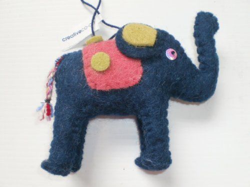 Felted Elephant Ornament