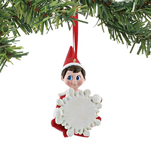 Department 56 Elf on The Shelf Blank Boy Personalized Ornament