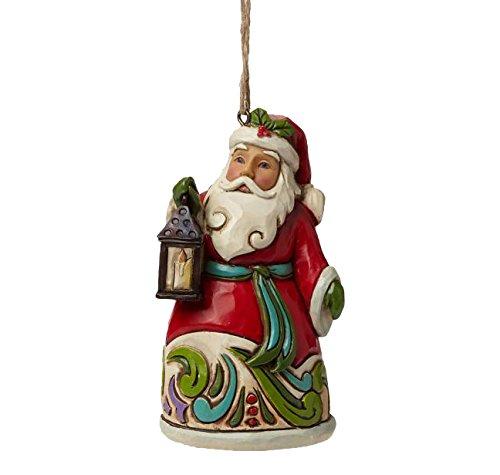 Enesco Jim Shore Santa with Lantern Mini Ornament