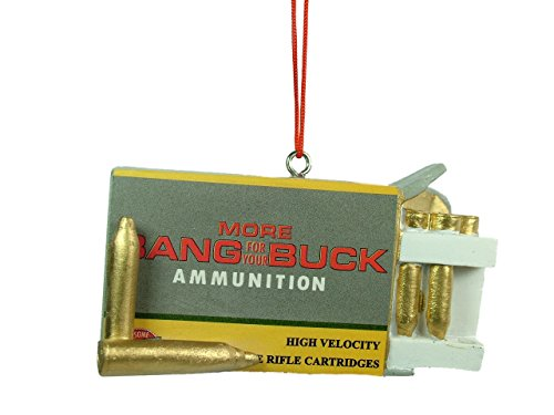 New Midwest Rifle Gun Ammunition Box Ammo Hunting Hunter Christmas Tree Ornament