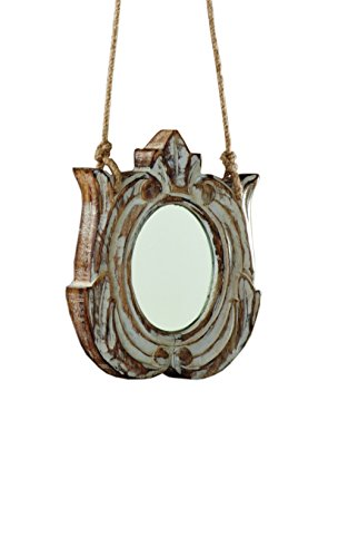 Sage & Co. XAO14565WH Carved Wood Emblem Ornament