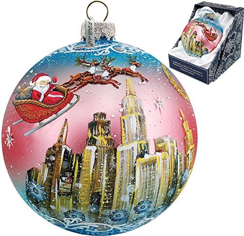 G. Debrekht Up Up & Away Glass Ball Ornament, 3.5″