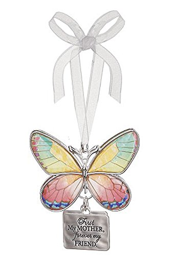 First My Mother Forever My Friend Metal Butterfly Ornament – By Ganz