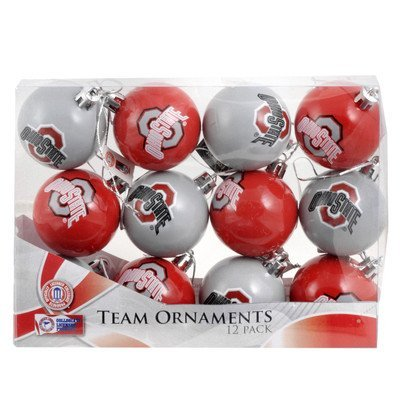 NCAA Ball Ornament (Set of 12) NCAA Team: Ohio State