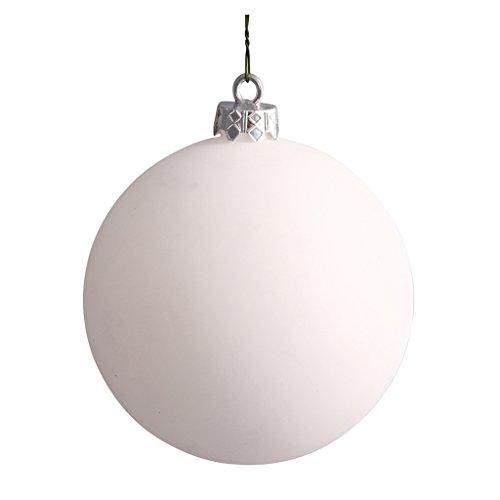Vickerman 392492 – 2.4″ White Matte Ball Christmas Tree Ornament (24 pack) (N590601DMV)