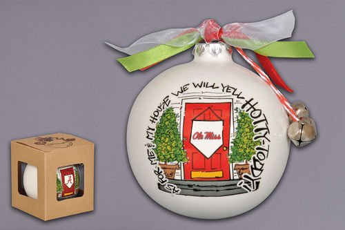 """As For Me And My House"" Holiday Ornament (Ole Miss Rebels)"