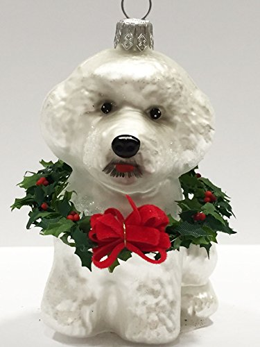 Ornaments to Remember: BICHON FRISHE PUPPY (Xmas Wreath) Christmas Ornament