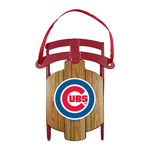 Chicago Cubs – MLB Official 3.5″ Metal Sled Ornament