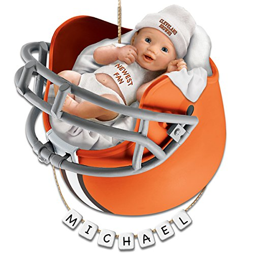 NFL Cleveland Browns Personalized Baby's First Christmas Ornament by The Bradford Exchange