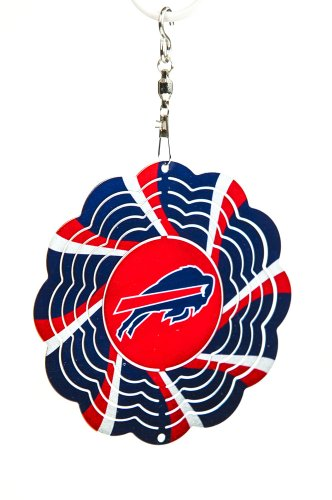 Buffalo Bills Geo Spinner Christmas Ornament