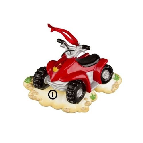 4 Wheeler ATV Personalized Christmas Tree Ornament