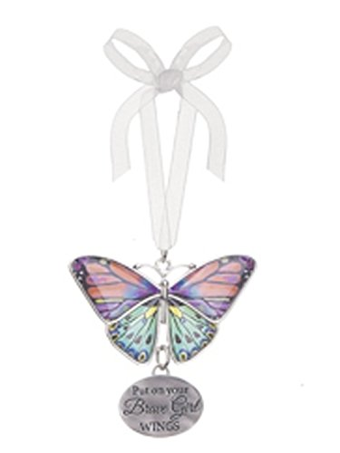 Put On Your Brave Girl Wings Metal Butterfly Ornament – By Ganz
