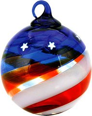 Glass Eye Studios Limited Edition Star Spangled Glass Ornament – Delux Boxed