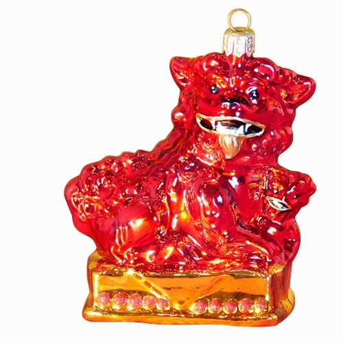 Ornaments to Remember: FOO DOG FEMALE (RED) Christmas Ornament