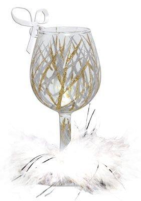 Lolita Wine Glass Christmas Ornament Tinsel