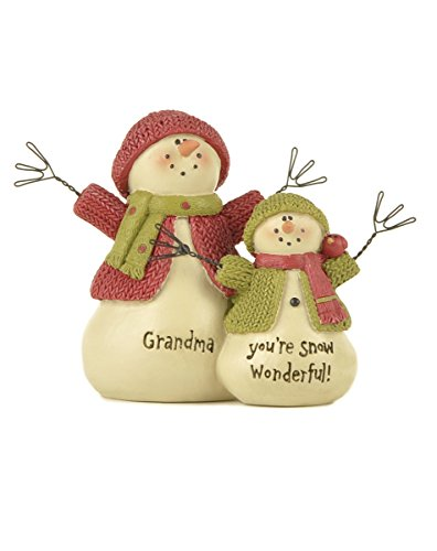 Grandma You're Snow Wonderful Snowmen 4 inch Resin Stone Christmas Figurine