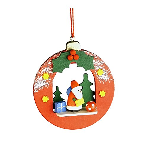 "10-0450 – Christian Ulbricht Ornament – Santa in Xmas Ball – 3″""H x 2.75″""W x 1″""D"