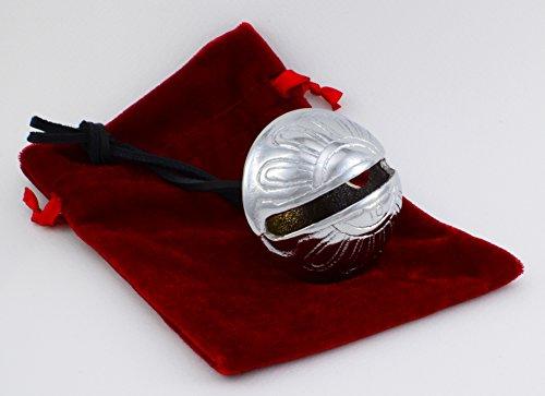 Silver Polar Sleigh Bell, #10 Jingle Bell, Reindeer Express From Elves and Santa's Sleigh Bells
