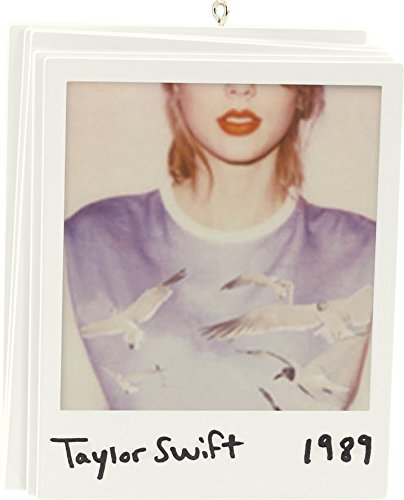 """4″ Carlton Cards Heirloom Musical Taylor Swift 1989 """"Shake it Off"""" Christmas Ornament"""