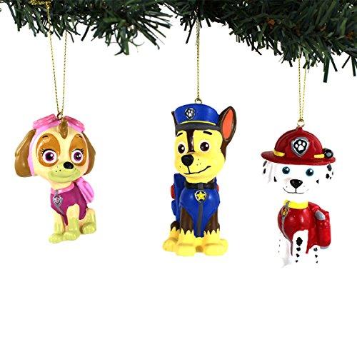 Paw Patrol Kurt Adler Blow Mold Ornaments (Marshall/Chase/Skye)