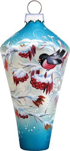 G. Debrekht Winter Birds Glass Diamond Ornament, 3.5″