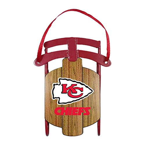 Kansas City Chiefs – NFL Official 3.5″ Metal Sled Ornament