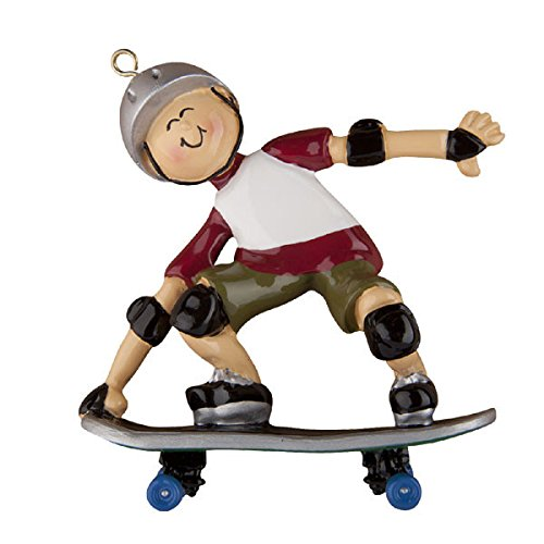 Skateboard Personalized Christmas Tree Ornament