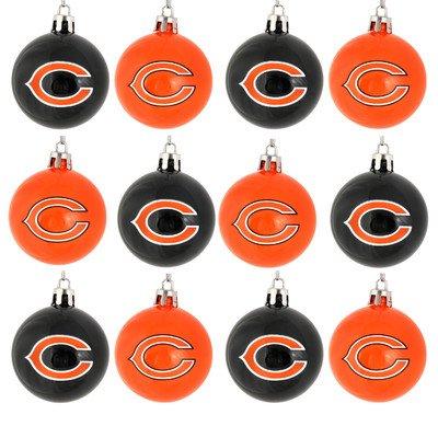 NFL Ball Ornament (Set of 12) NFL Team: Chicago Bears