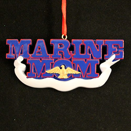 8308 Marine Mom Hand Personalized Christmas Ornament