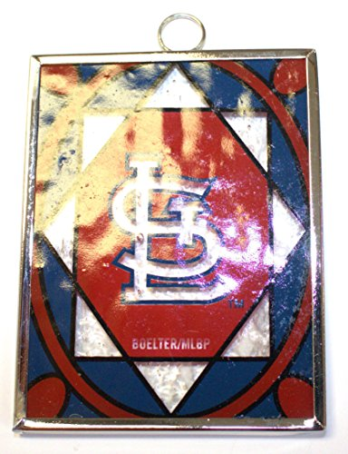 MLB Officially Licensed St Louis Cardinals 3″ Stained Glass Ornament Sun Catcher