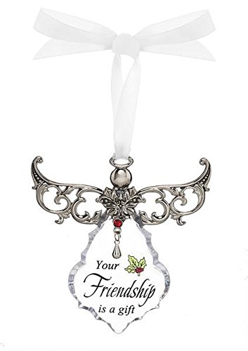 Your Friendship is a Blessing Clear Angel Gown Christmas Tree Ornament – By Ganz