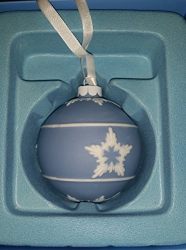 Wedgwood Blue Jasperware Ball Ornament – Star Pattern