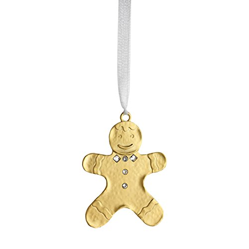 Reed & Barton LO711 Lunt Winter Wonder Gingerbread Man Ornament, Gold