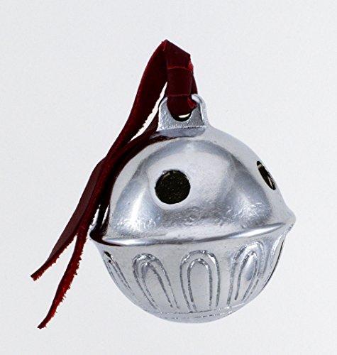 Giant Silver Christmas Polar Sleigh Bell, Reindeer Express From Santa's Sleigh Bells