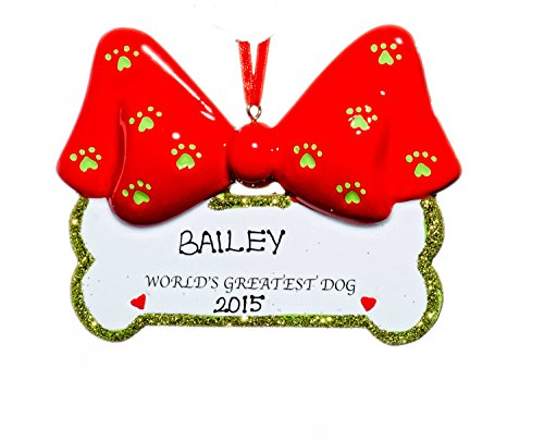 Dog Christmas Holiday Ornaments-Free Name Personalzation-Shipped In One Day