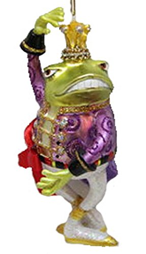 December Diamonds Blown Glass Ornament Frog Prince