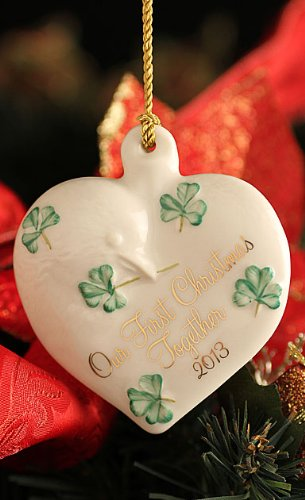 Belleek 4116 2013 Our First Christmas Ornament