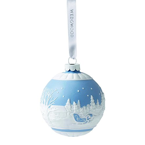 Wedgwood Sleigh Ride Christmas Ornament, Blue
