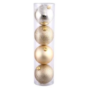 Vickerman 4-Piece Finish Ornament Assorted, 3-Inch, Champagne, 16 Per Box