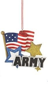 United States Army Ornament with American Flag