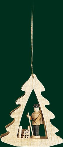 Hanging Christmas Tree Shaped Ornament Forest Worker, 3.4 Inches