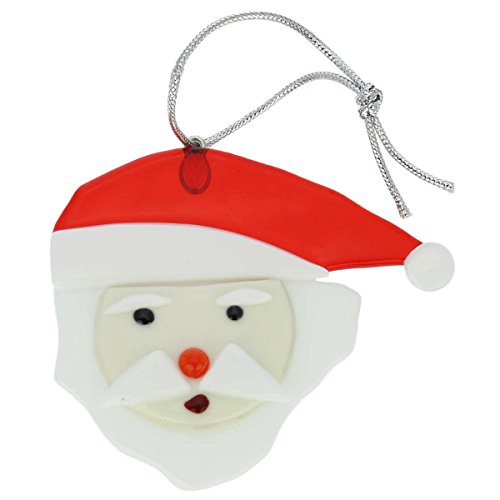 Murano Glass Santa Claus Christmas Ornament