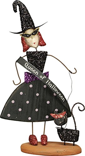 Primitives By Kathy Halloween Wood Decor – Queen of Halloween – Witch w/Cat