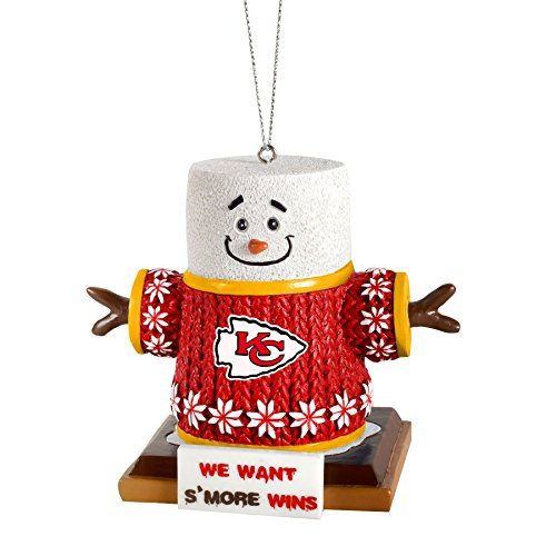 2015 NFL Football Team Logo Smores Holiday Tree Ornament – Pick Team (Kansas City Chiefs)