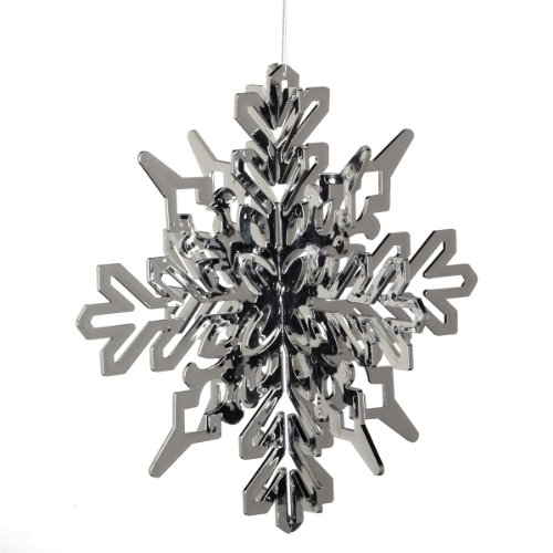 Midwest CBK Oversized Silver Snowflake Christmas Ornament