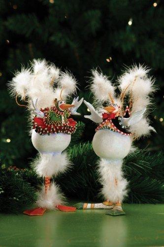 Patience Brewster Krinkles – Bernie & Bernice Snowbirds Orn, Set of 2 (08-30336)