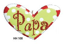 Nana or Papa Heart Christmas Tree Ornaments (Papa)