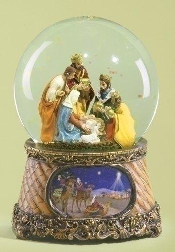 Roman 6″ Musical Three Kings Nativity Scene Religious Christmas Snow Globe Glitter-dome Music is Little Drummer Boy