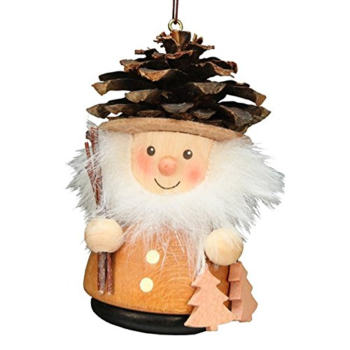 ULBR 15-0213 Christian Ulbricht Ornament – Pinecone Man, Natural