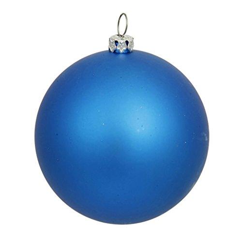 Vickerman Drilled UV Matte Ball Ornament, 10-Inch, Blue